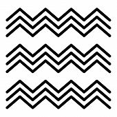 Egyptian Fresco Wave Icon. Outline Egyptian Fresco Wave Vector Icon For Web Design Isolated On White poster
