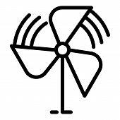 Children Propeller Icon. Outline Children Propeller Vector Icon For Web Design Isolated On White Bac poster