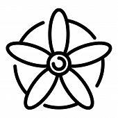 Avia Propeller Icon. Outline Avia Propeller Vector Icon For Web Design Isolated On White Background poster
