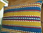 stock photo of pillowcase  - Vintage handwoven pillowcase with handmade  - JPG