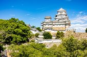 Himeji Castle the Unesco world heritage site in Himeji City Hyogo Japan in Summer poster