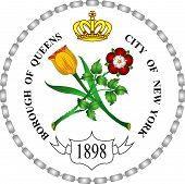 Coat Of Arms Of Queens Is The Easternmost Of The Five Boroughs Of New York City In The Northeastern  poster