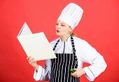 Delicious And Gourmet. Cook Looking For Cooking Recipe In Cookbook. Chef Author Culinary Book. Cooki poster