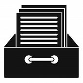 Archive Papers Icon. Simple Illustration Of Archive Papers Vector Icon For Web Design Isolated On Wh poster