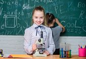 She Has Brilliant Scientific Mind. Science Experiments. Biology Science. Happy Little Girls. Little  poster