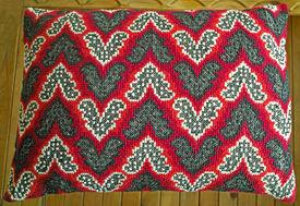 stock photo of pillowcase  - Vintage pillowcase with handmade original embroidery  - JPG