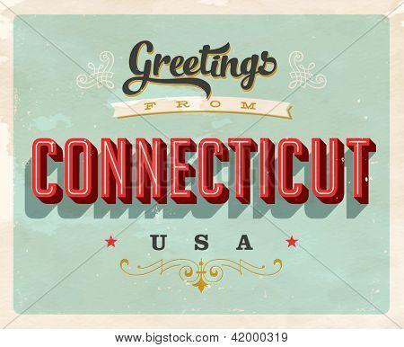 Vintage turística tarjeta - Vector EPS10 de felicitación. Efectos de Grunge se pueden quitar fácilmente para un nuevo