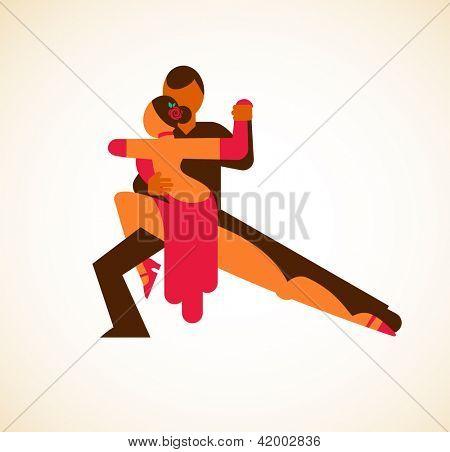 Tango dancer - vector illustration