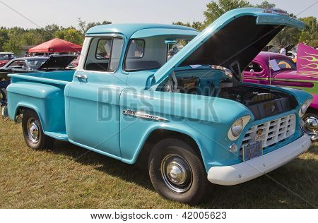 1955 Chevy Aqua Blue Truck