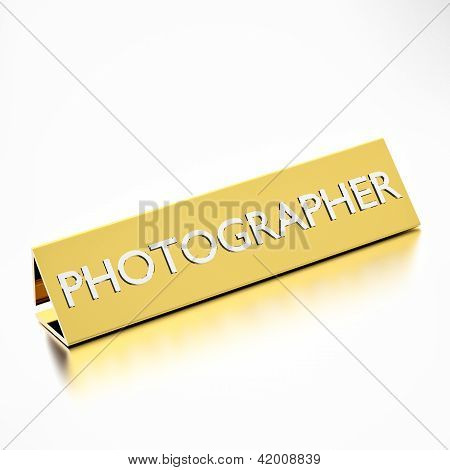 Nameplate For Photographer