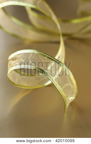 ribbon gold  for holiday background