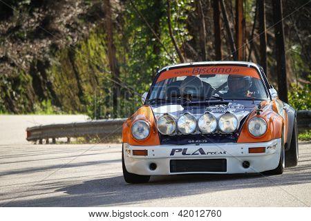 Leiria, Portugal - February 2: Valter Gomes Drives A Porsche 911 During 2013 Amateur Winter Rally, I