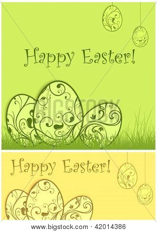 Painted Easter Background & Text