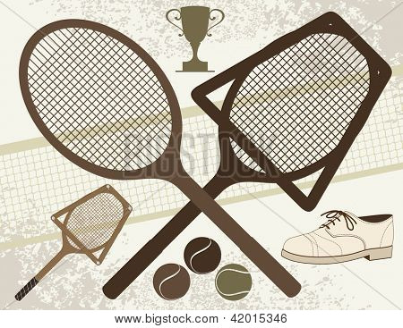 Old Tennis Elements - Vector eps8.