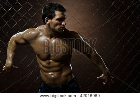 Muskulöse Kerl