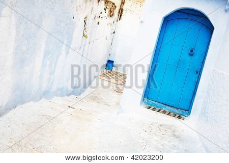 Architectural detail in Chefchaouen, Morocco, Africa