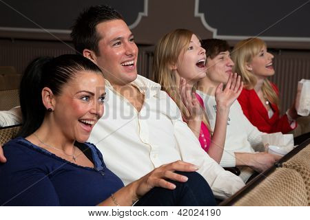 Laughing Audience At The Movies