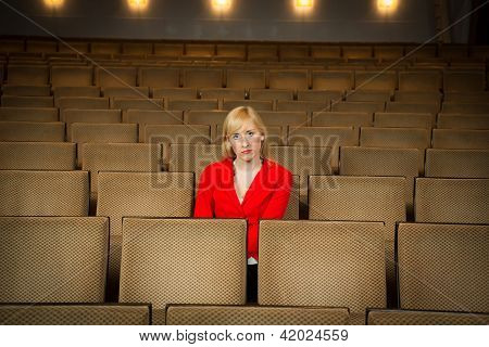 Solitary Woman In A Theatre