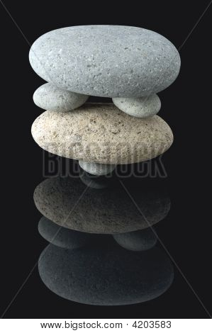 Balanced Stone Stack Pattern