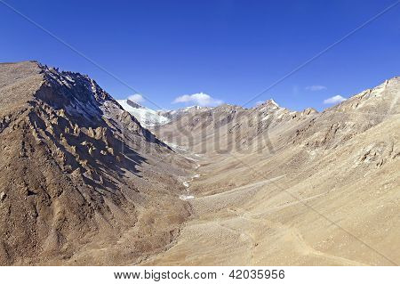 Mountain Gorge In The Himalayas