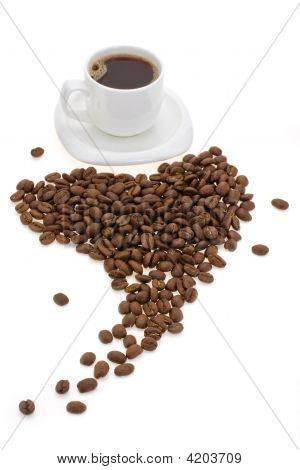Cup With Coffee And Grain