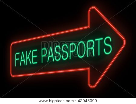 Pasaportes falsos.