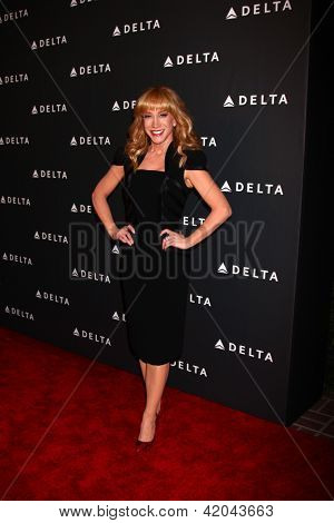 LOS ANGELES - FEB 7:  Kathy Griffin arrives at the Celebration of LA's Music Industry reception at the Getty House on February 7, 2013 in Los Angeles, CA