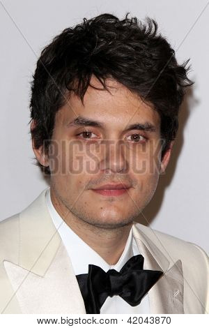 LOS ANGELES - FEB 9:  John Mayer arrives at the Clive Davis 2013 Pre-GRAMMY Gala at the Beverly Hilton Hotel on February 9, 2013 in Beverly Hills, CA