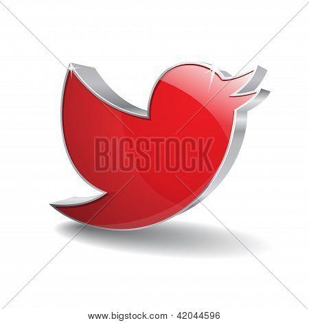3d Blue Bird Icon
