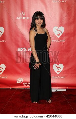 LOS ANGELES - FEB 8:  Stephanie Marie Hanvey arrives at the 2013 MusiCares Person Of The Year Gala  at the Los Angeles Convention Center on February 8, 2013 in Los Angeles, CA