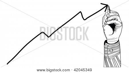 hand drawing diagram. isolated on white background