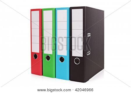 Ring binders isolated on white background