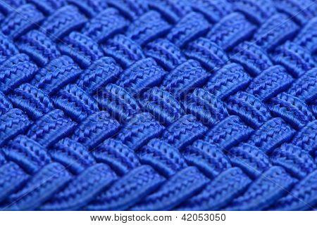 Textura de la tela entretejida azul