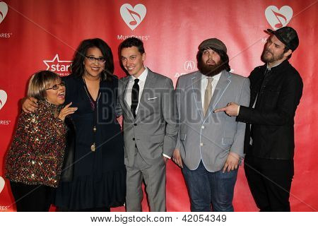 LOS ANGELES - FEB 8:  Mavis Staples and Alabama Shakes arrive at the 2013 MusiCares Person Of The Year Gala  at the Los Angeles Convention Center on February 8, 2013 in Los Angeles, CA