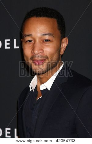 LOS ANGELES - FEB 7:  John Legend arrives at the Celebration of LA's Music Industry reception at the Getty House on February 7, 2013 in Los Angeles, CA