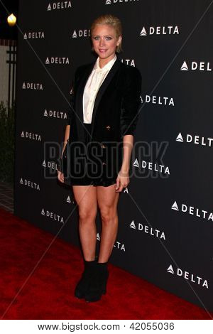 LOS ANGELES - FEB 7:  Brittany Snow arrives at the Celebration of LA's Music Industry reception at the Getty House on February 7, 2013 in Los Angeles, CA