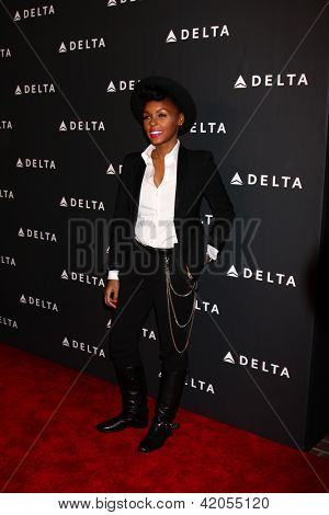 LOS ANGELES - FEB 7:  Janelle Monae arrives at the Celebration of LA's Music Industry reception at the Getty House on February 7, 2013 in Los Angeles, CA