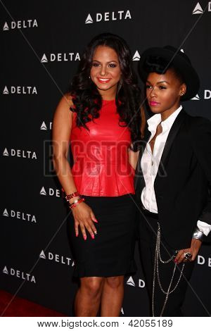 LOS ANGELES - FEB 7:  Christina Milian, Janelle Monae arrives at the Celebration of LA's Music Industry reception at the Getty House on February 7, 2013 in Los Angeles, CA