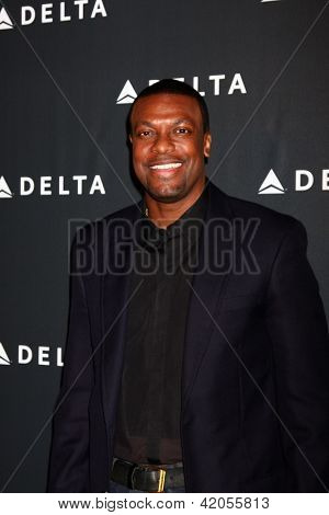 LOS ANGELES - FEB 7:  Chris Tucker arrives at the Celebration of LA's Music Industry reception at the Getty House on February 7, 2013 in Los Angeles, CA