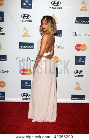 LOS ANGELES - FEB 9:  Ciara arrives at the Clive Davis 2013 Pre-GRAMMY Gala at the Beverly Hilton Hotel on February 9, 2013 in Beverly Hills, CA