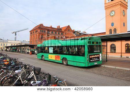 City Bus In Sweden