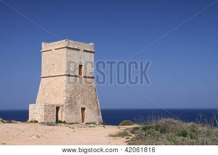 Old Watchtower In Malta