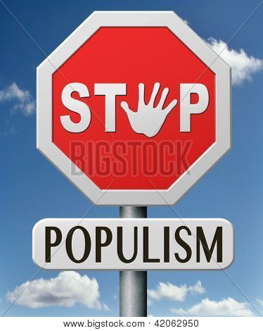 stop populism political philosophy populist or nationalist