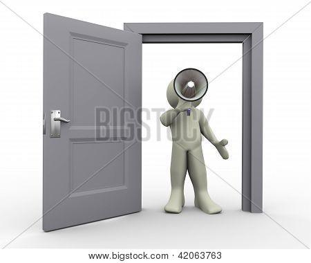 3D Man Announcement At Open Doo