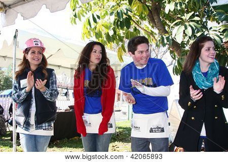 LOS ANGELES - FEB 9:  Lisa LoCicero, Theresa Castillo, Jimmy Dreshler, Jen Lilley at the 4th General Hospital Habitat for Humanity Fan Build Day on February 9, 2013 in Long Beach, CA