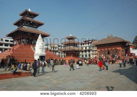 Street Life In Kathmandu,Durbar Square
