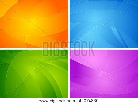 Set of abstract colourfuk backgrounds. Vector design eps 10