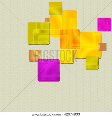 Colourful squares design. Vector background eps 10