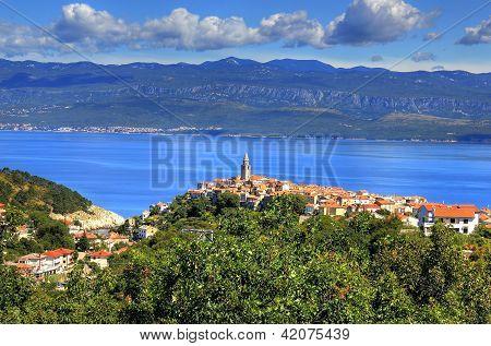 Mediterranean Town Of Vrbnik, Island Of Krk, Croatia