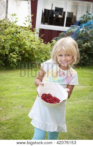 Girl Picking Red Currants